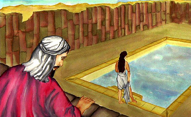 David and Bathsheba.