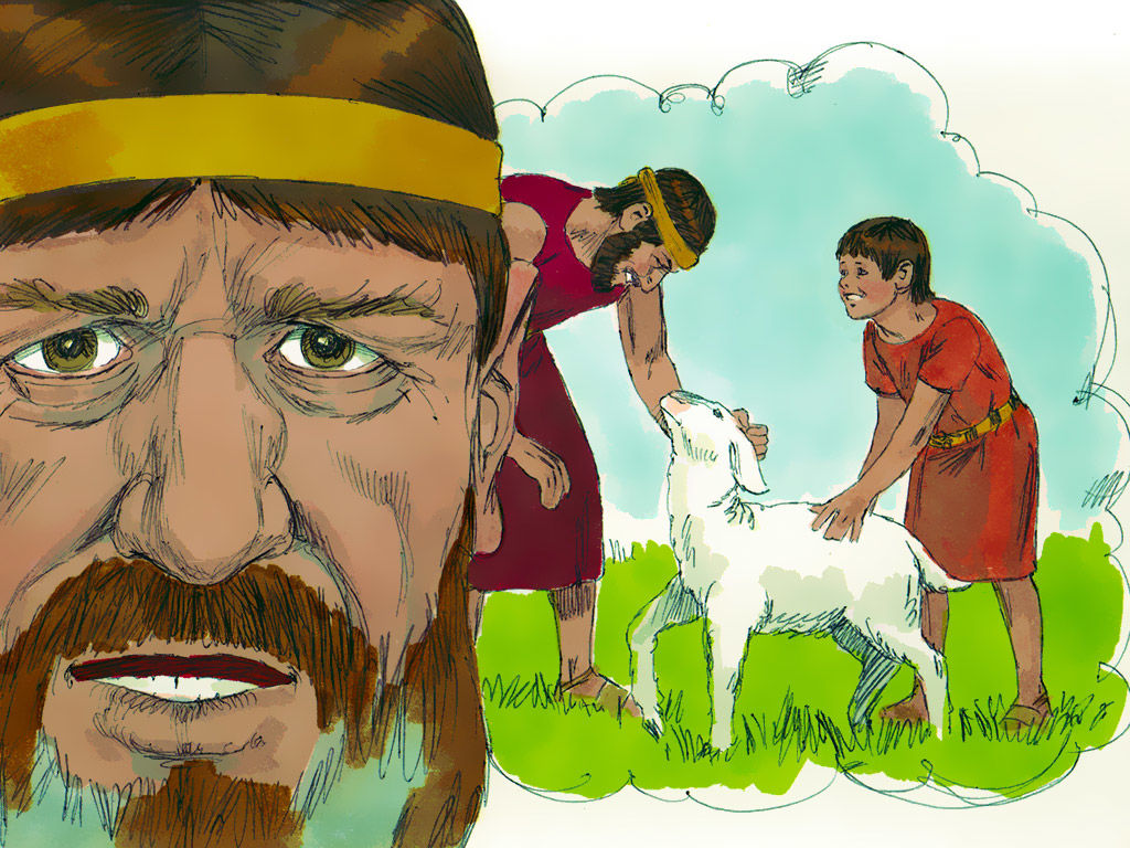 Free Bible images: Nathan the prophet confronts David after he.