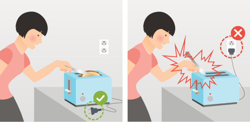 How to prevent electrical accidents at home.