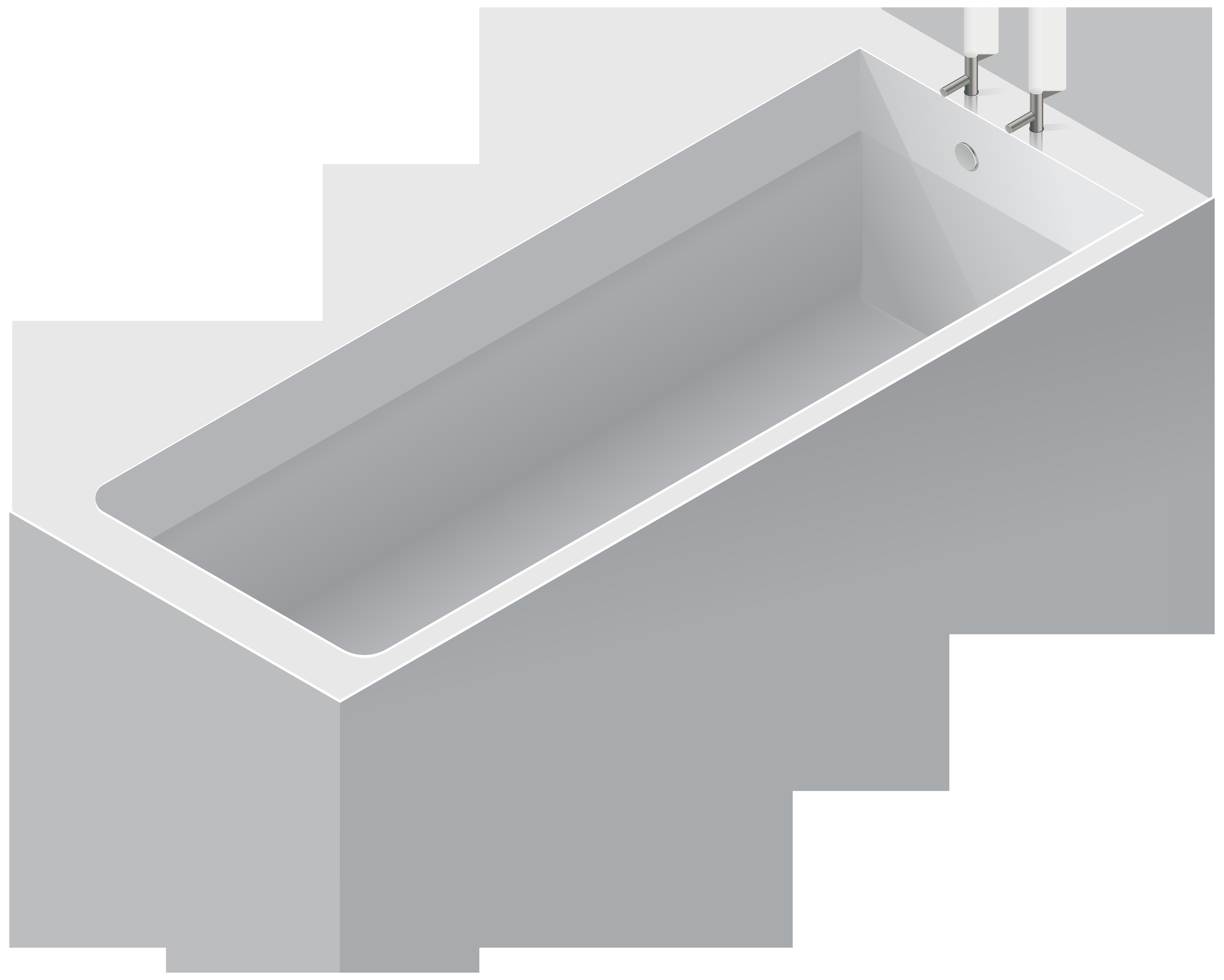 White Bathtub PNG Clip Art.