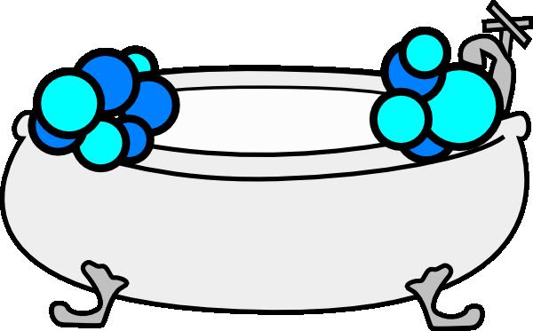 Bathtub With Bubbles Clip Art at Clker.com.
