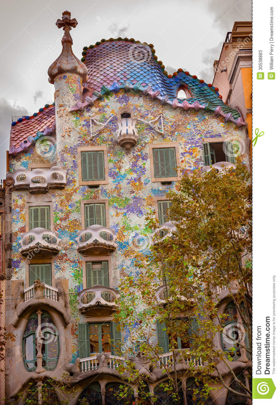 Casa Batllo Antoni Gaudi House Museum Barcelona Ca Editorial Stock.