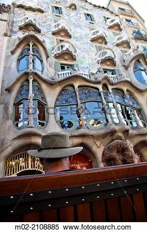 Stock Image of Casa Batllo House, Gaudi, 1904.
