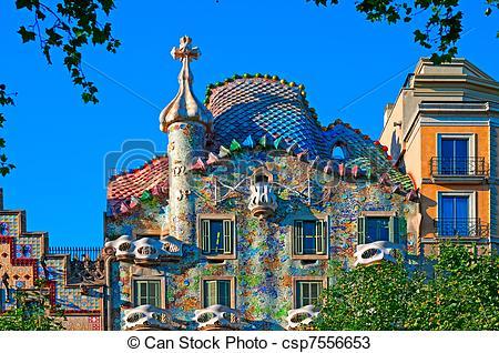Stock Photos of Casa Batllo, Barcelona.