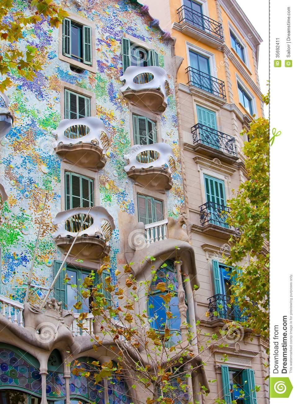 Casa Batllo Stock Image.