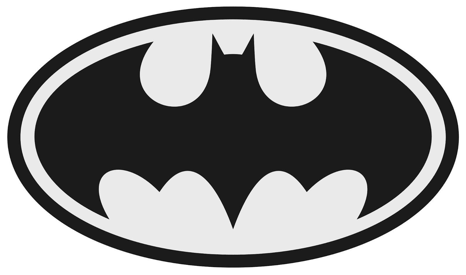 Batman Logo Clipart Black And White.