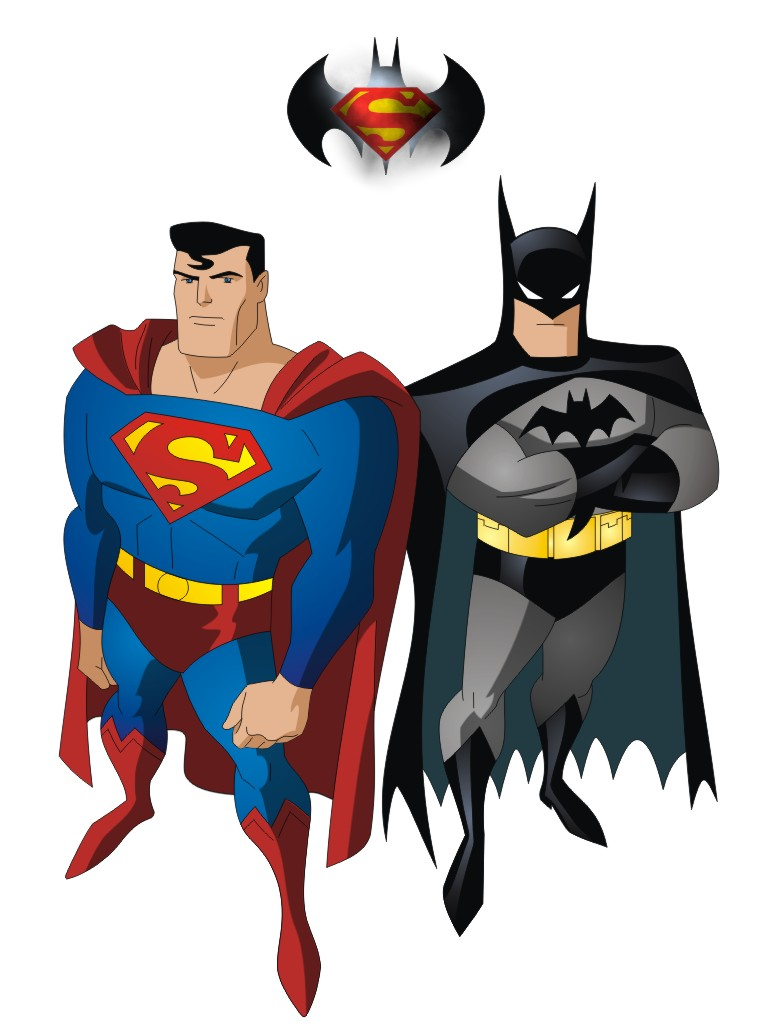 Batman And Superman Clipart.