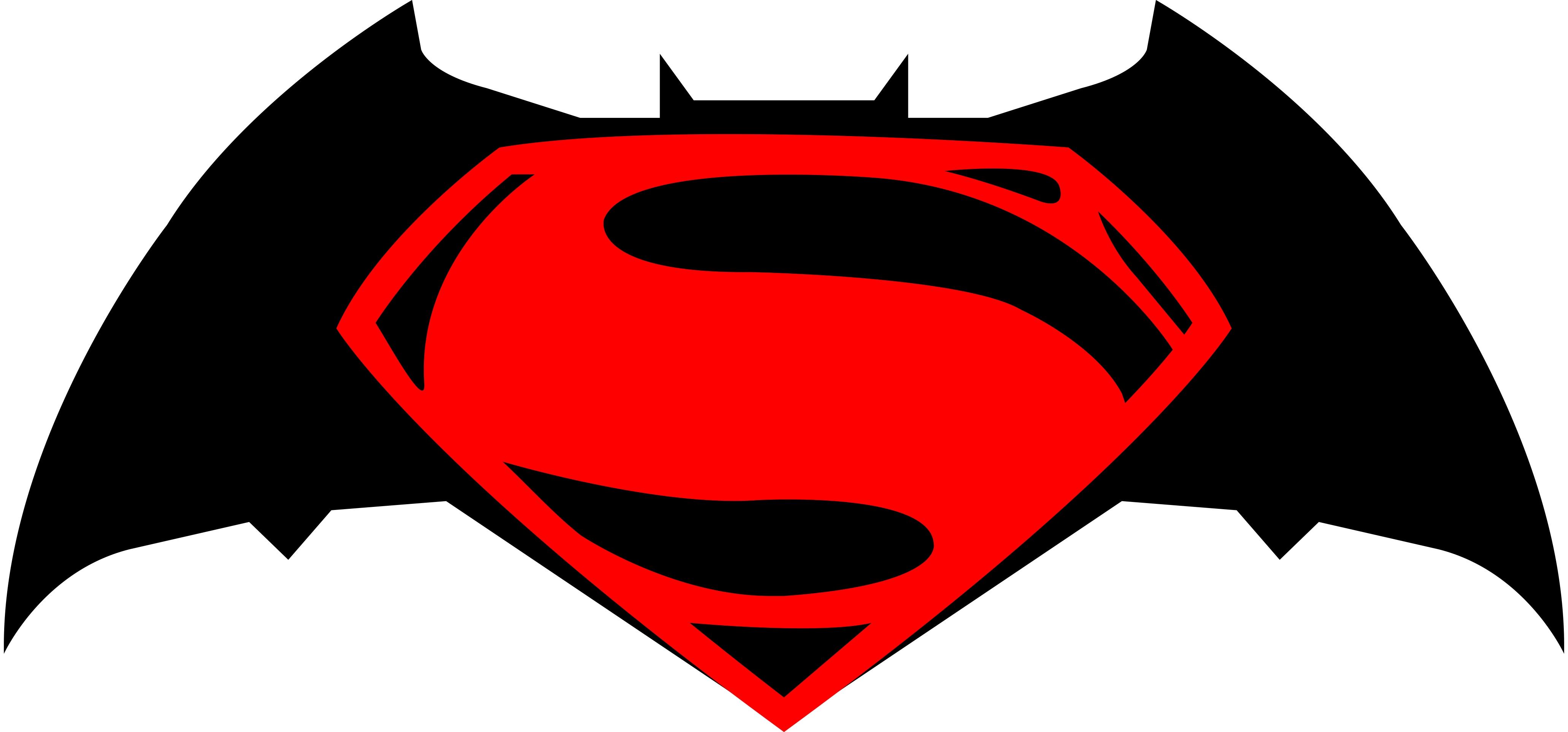 batman and superman clipart #10