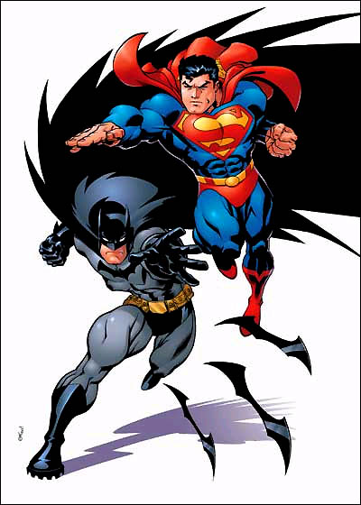 Superman And Batman Clipart.