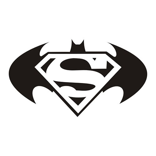 batman and superman clipart #14