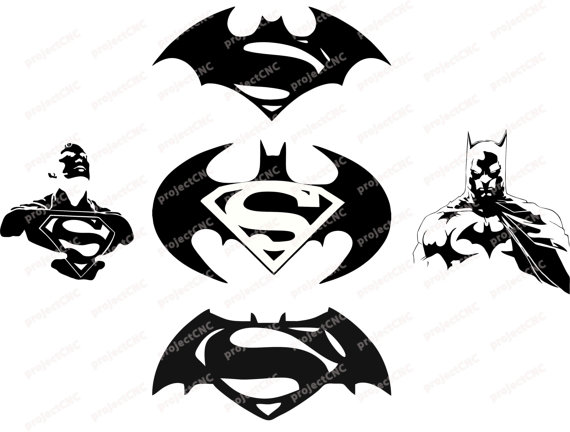 batman and superman clipart #18