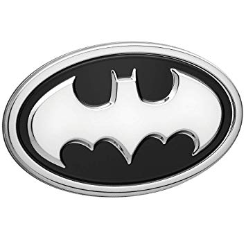 Fan Emblems Batman Logo 3D Car Emblem Black/Chrome, DC Comics Automotive  Sticker Decal Badge Flexes to Fully Adhere to Cars, Trucks, Motorcycles,.