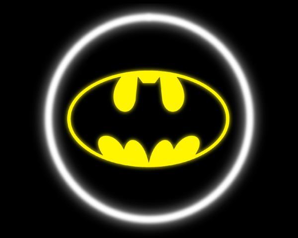2 Wireless LED Laser Batman Car Door Lights.