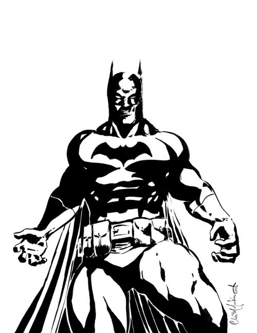 Batman Black and White by.