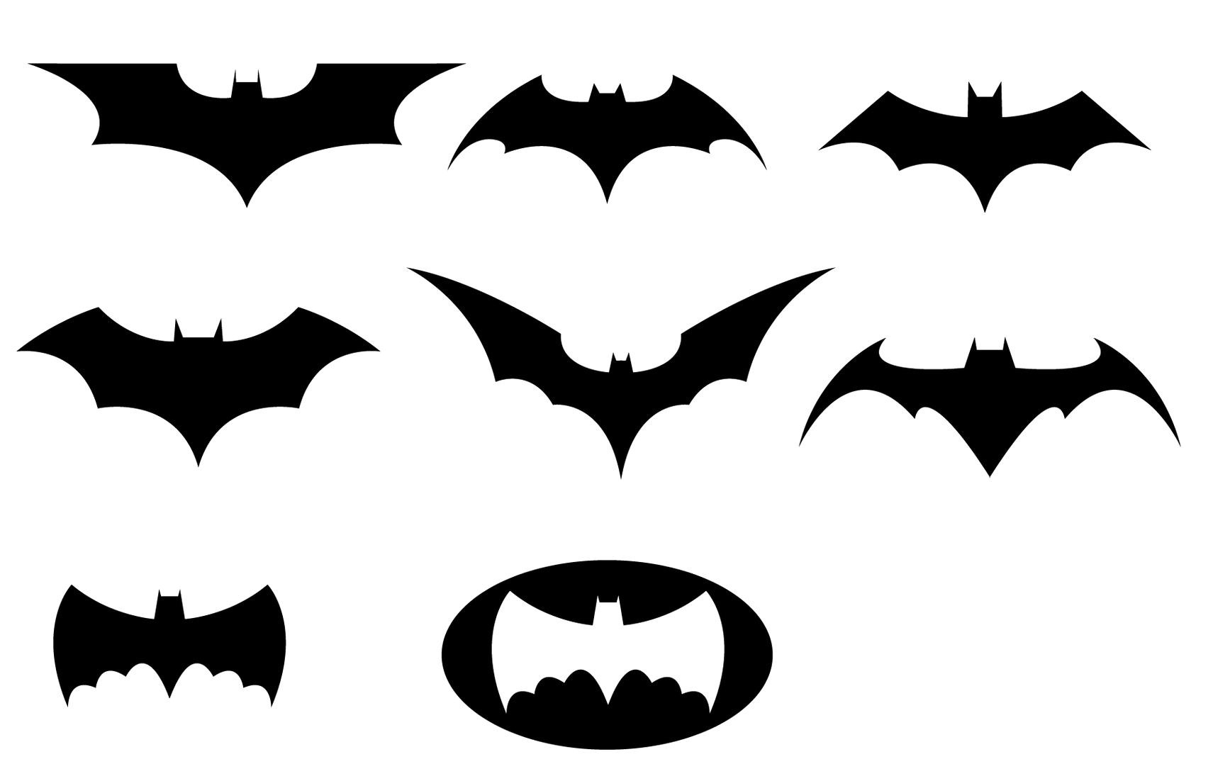 Batman Black And White Logo Clipart Transparent Background.