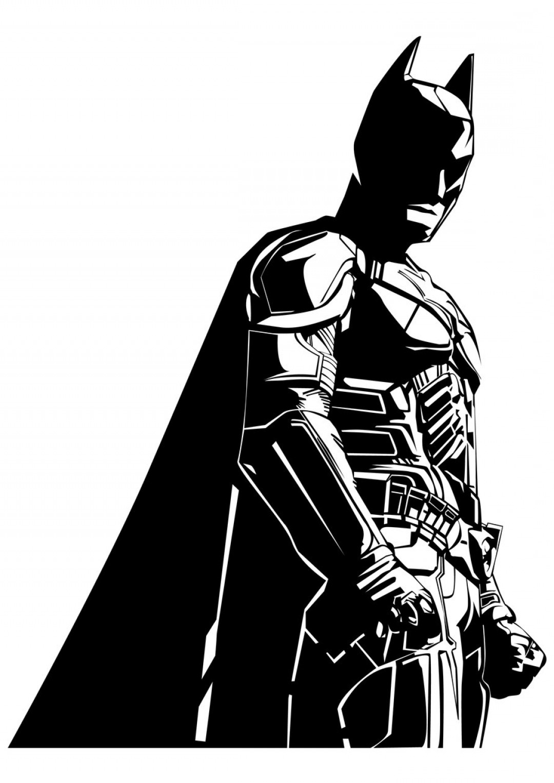 Batman Face Clipart Black And White.