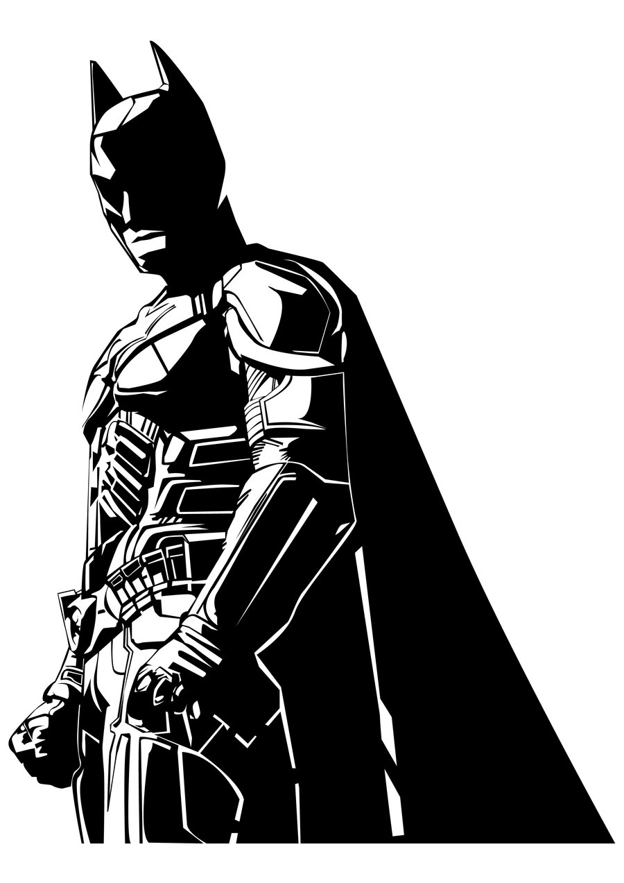 Batman Clipart Black And White.