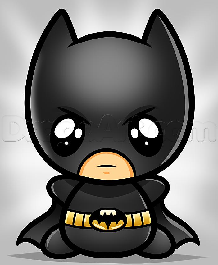 how to draw kawaii batman.