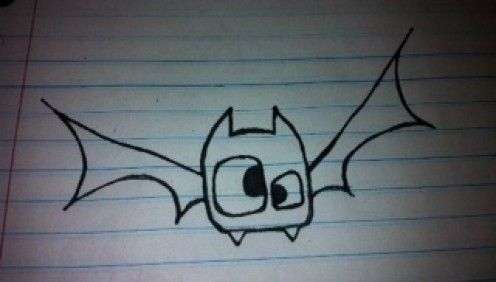 How To Draw A Cute Cartoon Bat: Easy Step By Step For Kids.