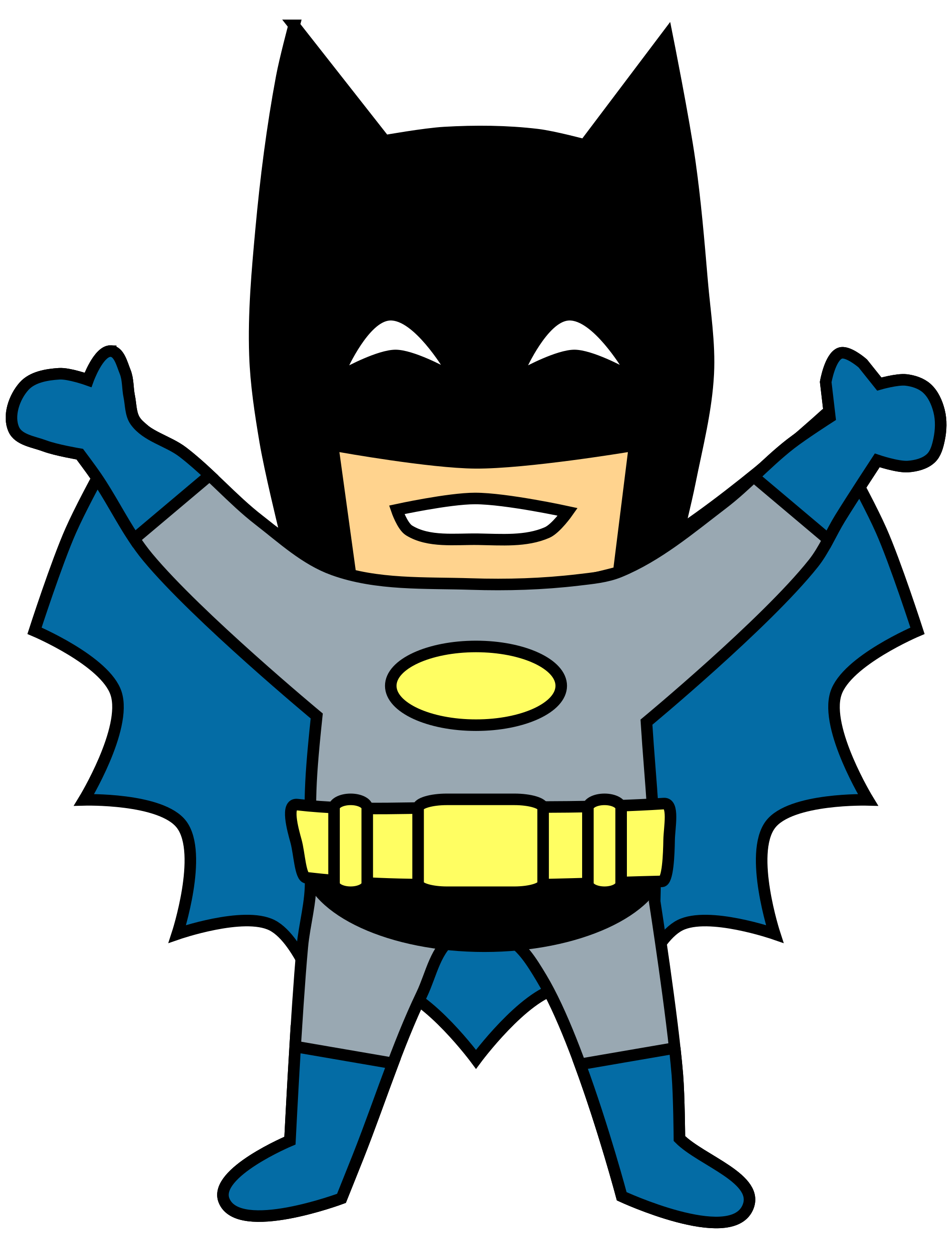 Happy Mini Batman Cartoon Clip Art Transparent.