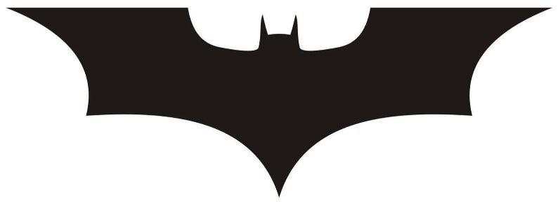 Batman Diecut Vinyl DARK KNIGHT LOGO Batman Car Truck Decal Sticker Gift  Laptop Comic.
