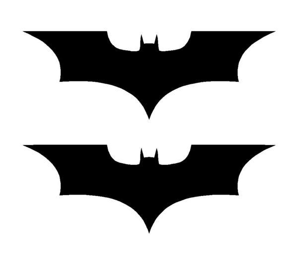 2 Batman Dark Knight Symbol Vinyl Decals Car Window Laptop Stickers.