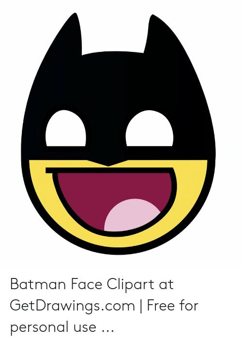 Batman Face Clipart at GetDrawingscom.