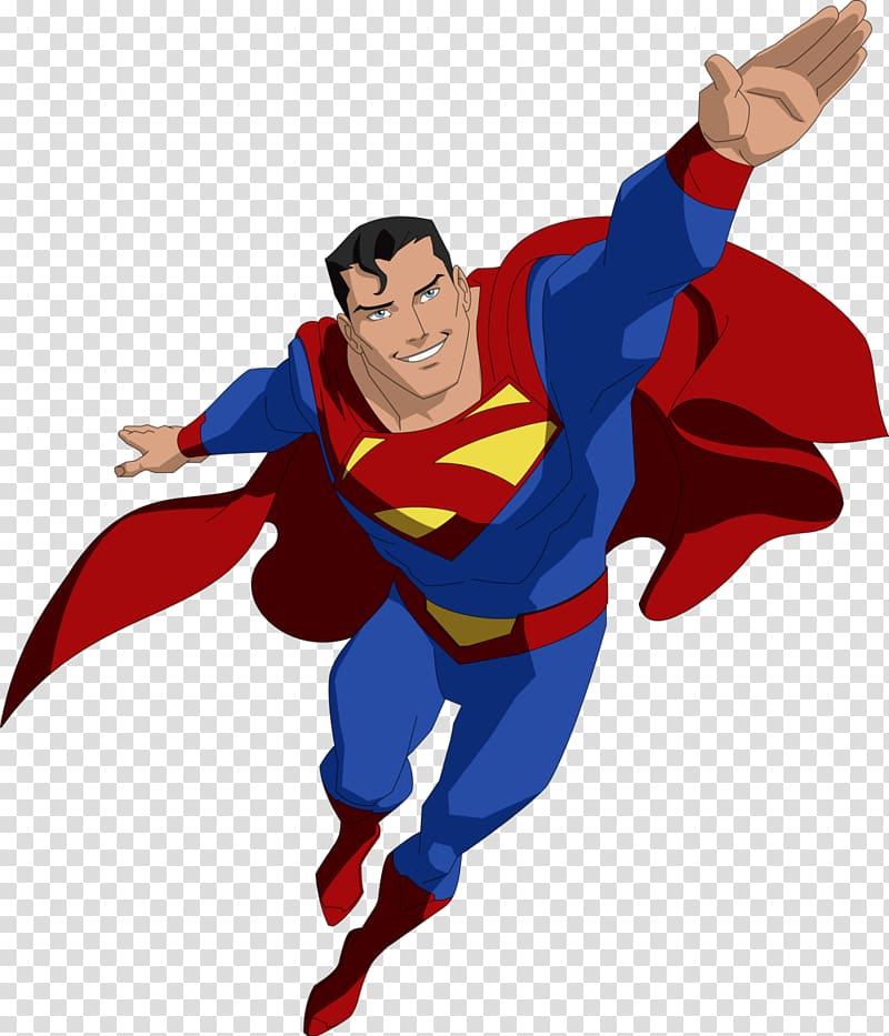 Superman flying illustration, Superman Batman Superboy.