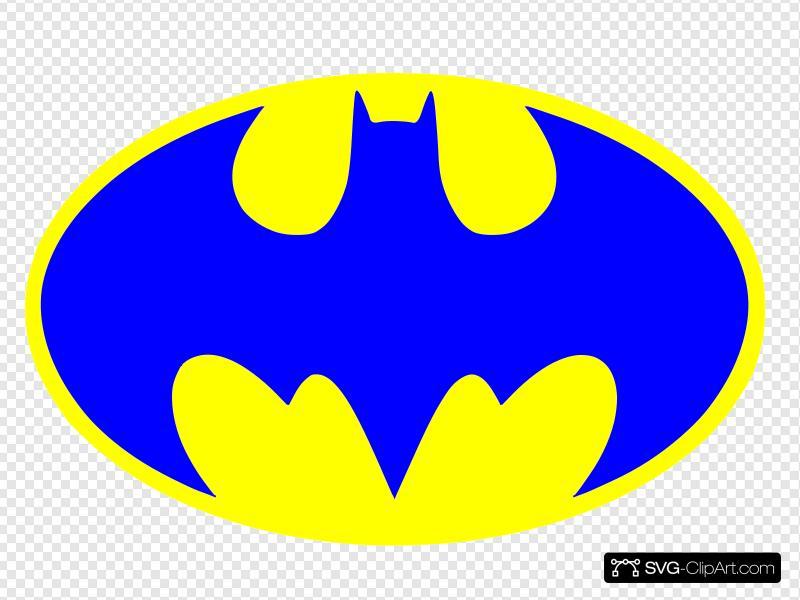 Blue Batman Logo Clip art, Icon and SVG.
