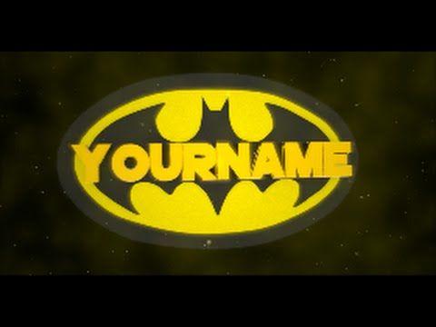 Free Batman Blender Intro #8 + Free Download.