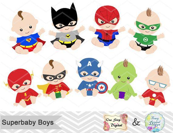 Superhéroe bebé Clip Art Super bebé Clip Art Clipart de.