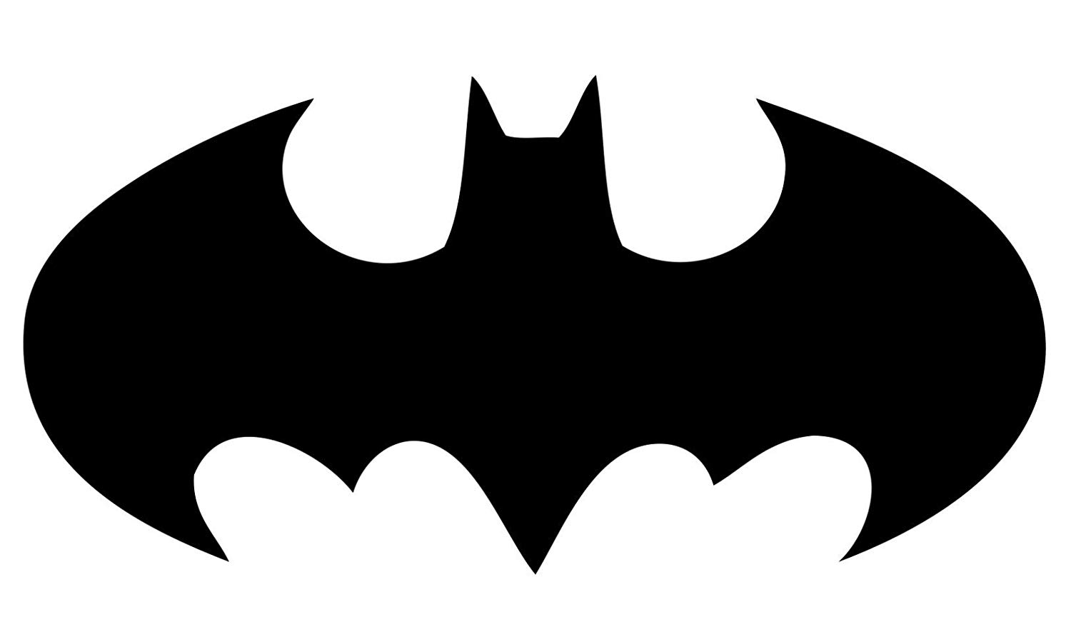Licenses Products Batman Logo Decal Sticker (Black, 10 in).