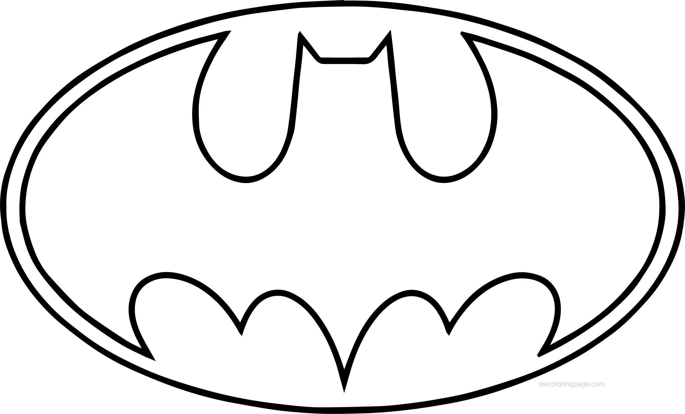 Batman Logo Coloring Pages And Superhero.