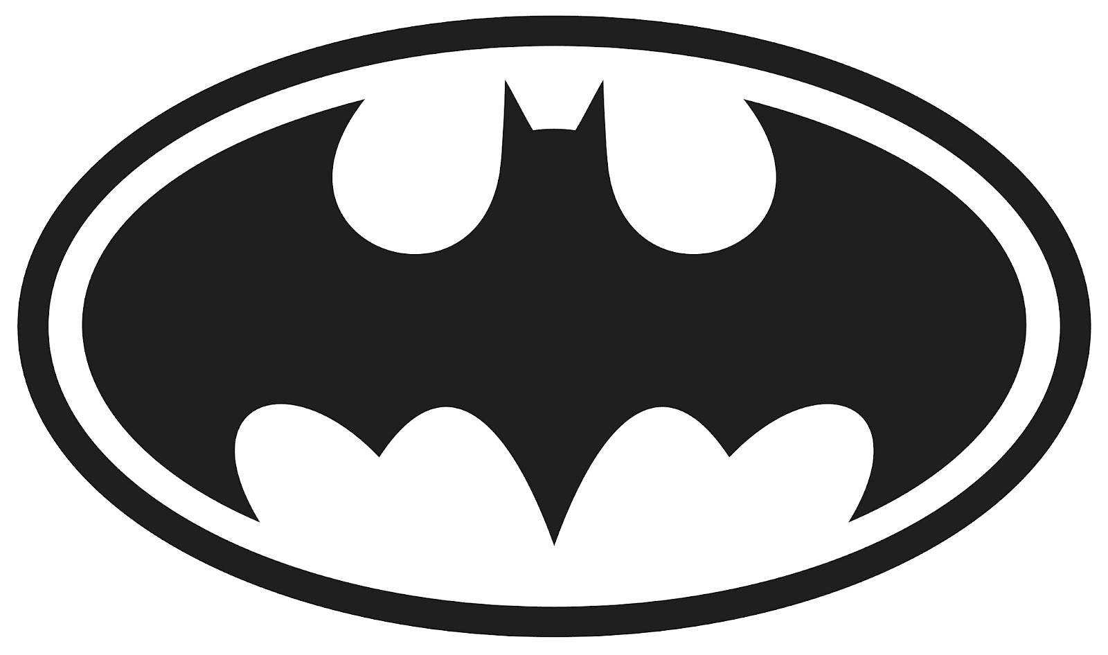Free Printable Batman Logo Coloring Pages.