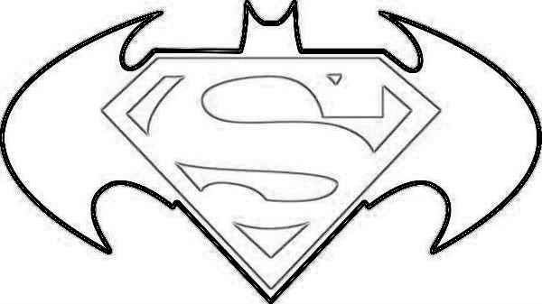 Superman Symbol Coloring Pages For Kids Coloring Pages.