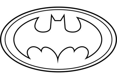 Batman Logo coloring page.