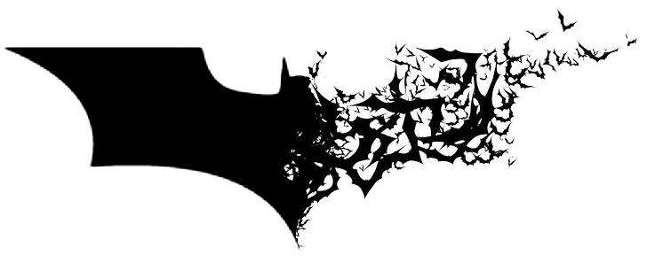Dark Knight Logo with Bats by berabaskurt, tweaked by.