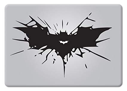 Batman Cracked Bat Symbol Dark Knight Rises for MacBook Laptop Car Die.