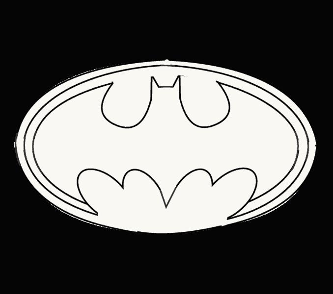 How to Draw Batman Logo.