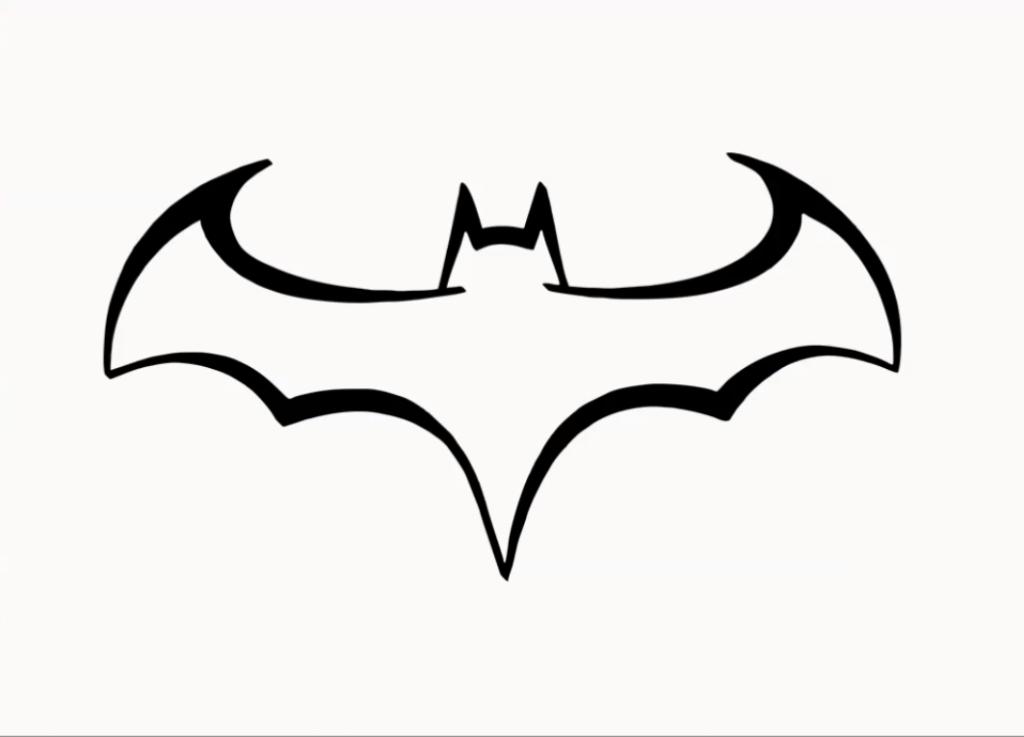 How to Draw Batman Logo Step by Step #Batman.