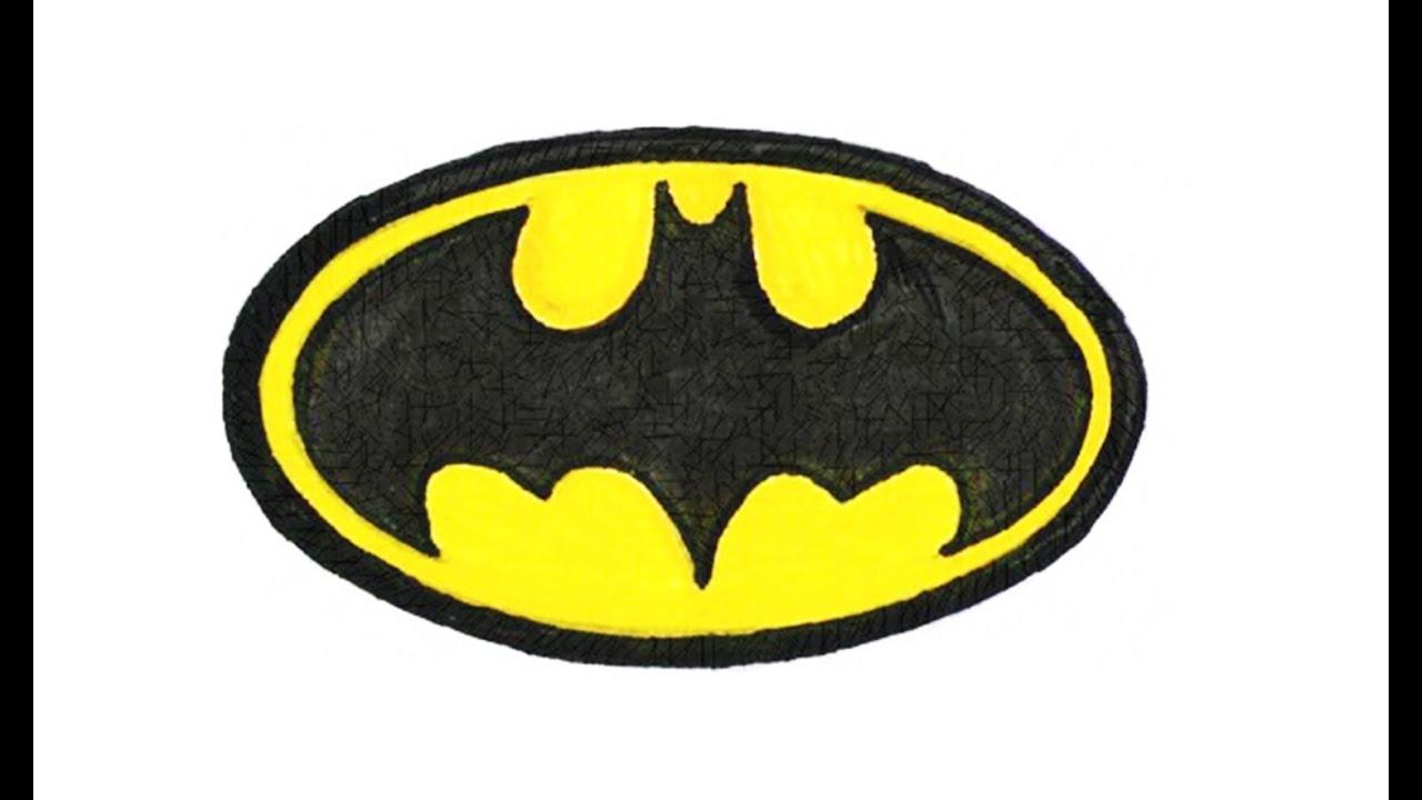 How to Draw the Batman Logo (symbol, emblem).