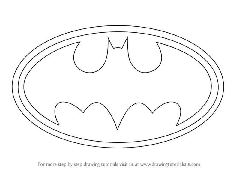 Learn How to Draw Batman Logo (Batman) Step by Step.