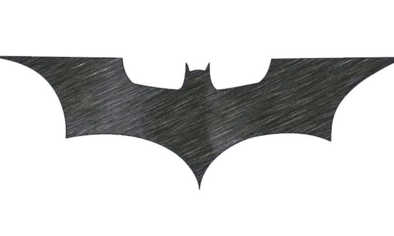 How to draw the Batman Logo.