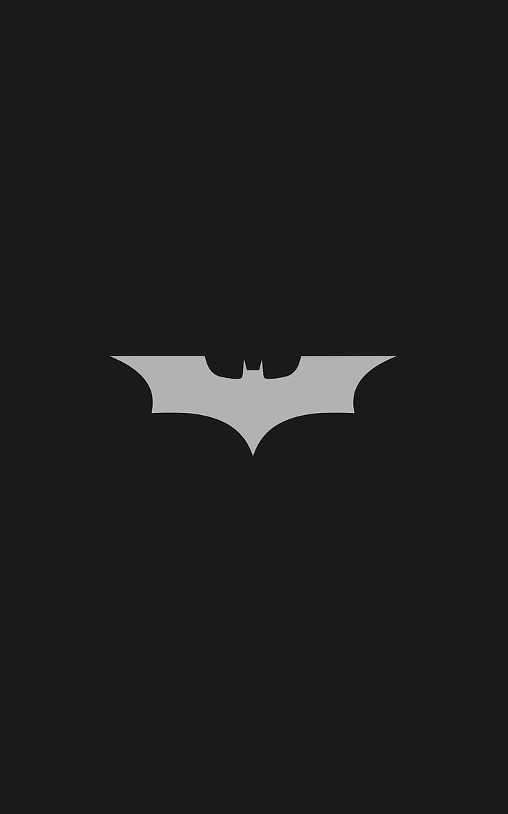 HD wallpaper: Batman, Batman Logo, minimalism, Portrait.