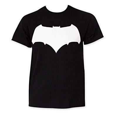 Batman V Superman And White Batman Logo Tee Shirt.