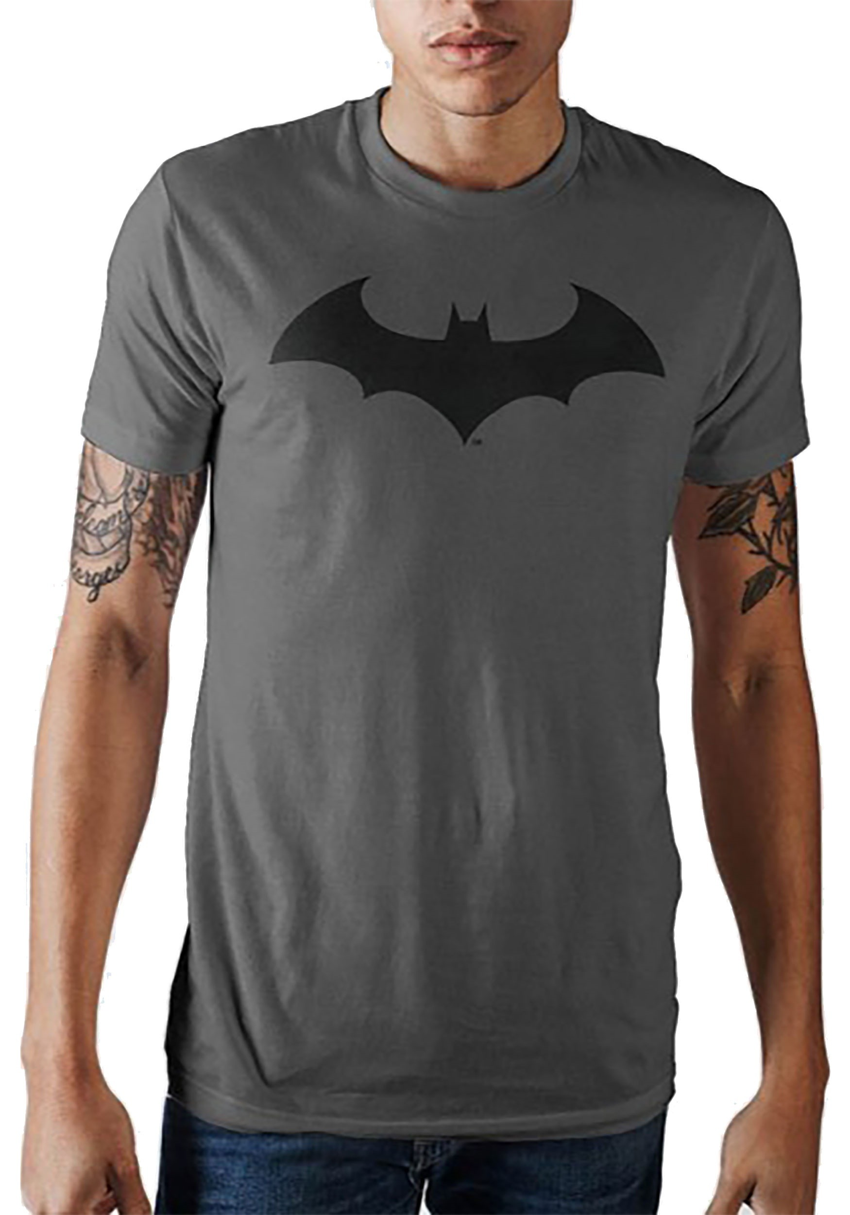 Batman Bat Symbol Men\'s Charcoal T.