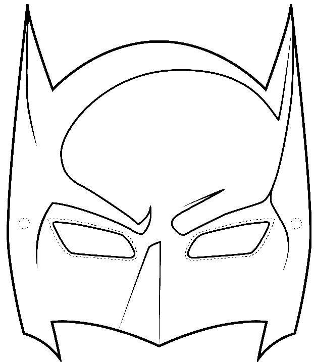 Sample Batman Mask Template.
