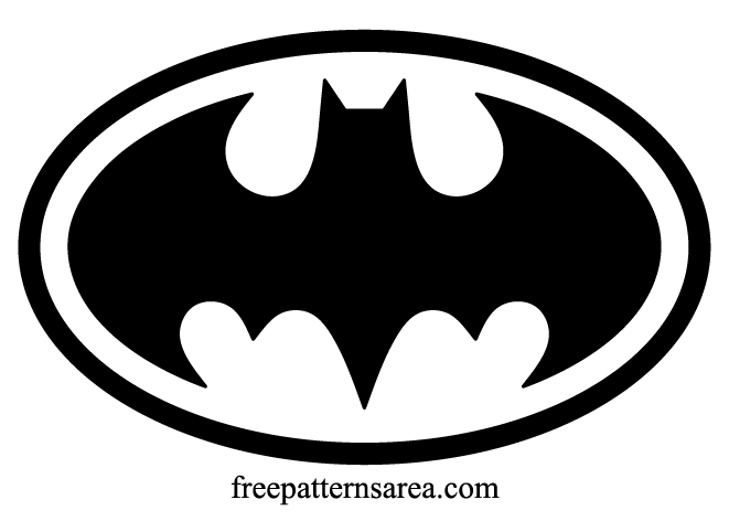 Batman Logo Symbol and Silhouette Stencil Vector.