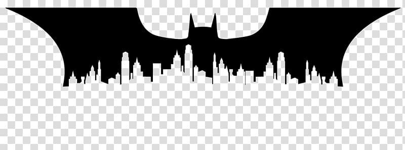 Batman Joker Silhouette Gotham City Skyline, city silhouette.