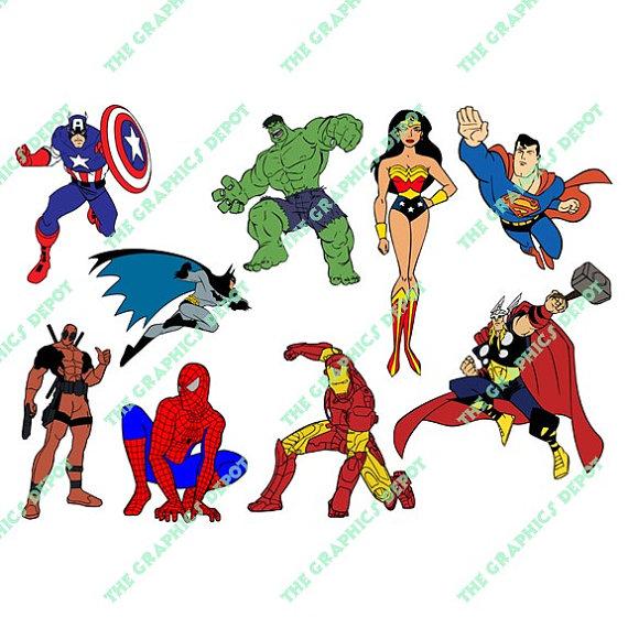 Batman Captain America Deadpool Hulk Iron Man by.